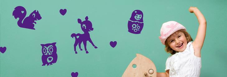 B�rne wallsticker designs