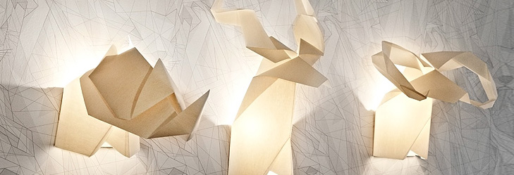 Origami's Hunter Lamps from Si Studio