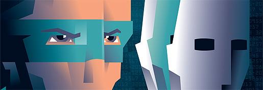 Identity Theft Illustrations for SAS Scandinavian Traveller magazine