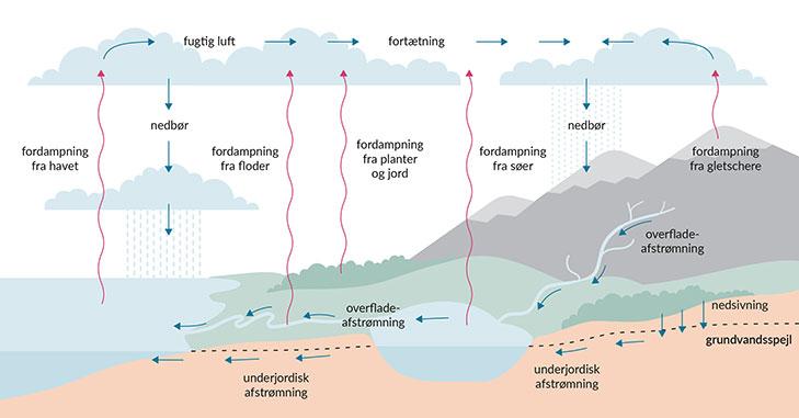 Vandets kredsløb er essentielt for livsbetingelserne på Jorden.