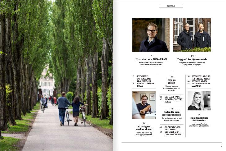 Magasin design og layout: indholdsfortegnelse, MinAltan Magasin opslag