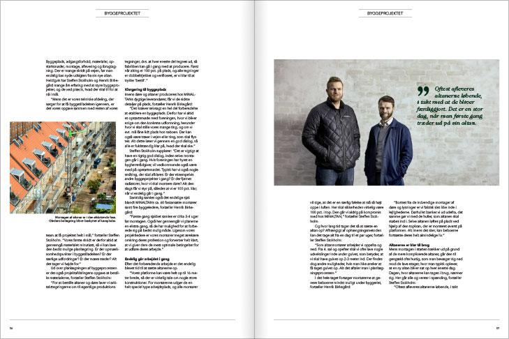 Magasin design og layout: Fra byggetilladelse til færdig altan, MinAltan Magasin opslag
