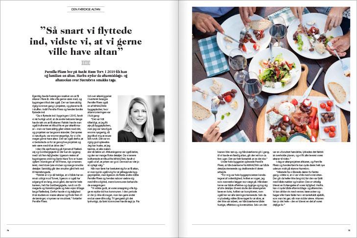 Magasin design og layout: Den færdige altan - artikel, MinAltan Magasin opslag
