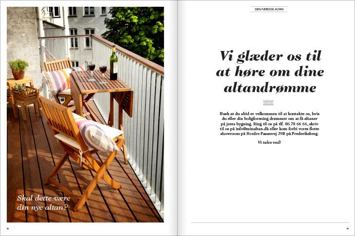 Magasin design og layout: Vi glæder os til at høre om dine drømme, MinAltan Magasin opslag