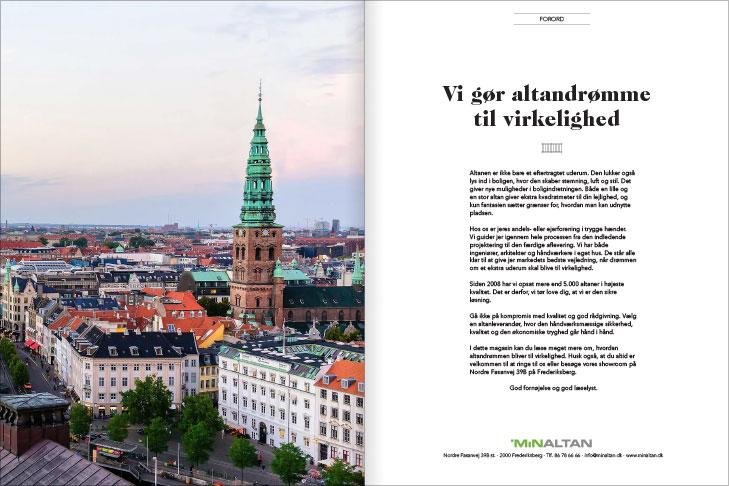 Magasin design og layout: Vi gør dine altandrømme til virkelighed, MinAltan Magasin