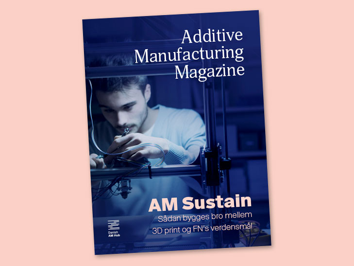 Danish AM Hub, Additive Manufacturing Magazine, Frontpage layout