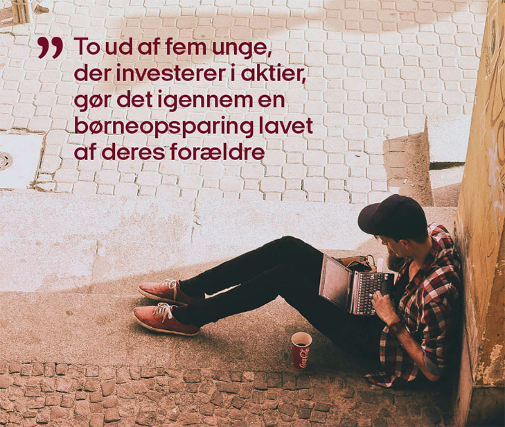 Finance Denmark, Report on young peoples debts, spending and savings: Photo with featured quote.